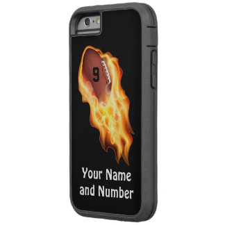 Cool Flaming Personalized Football iPhone 6 Case
