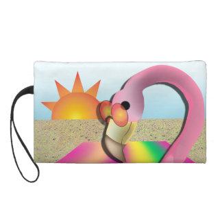Cool Flamingo Beach Clutch