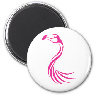 Cool Flamingo Greater Swish Logo Icon Style Magnet