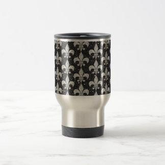 cool fleur-de-lis pattern on glitter effects coffee mugs