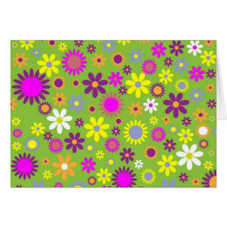 Cool Floral Pattern Colorful Scrapbooking Green Card