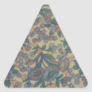 cool floral pattern triangle sticker