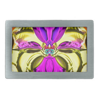 Cool Flourescent Pastel Abstract Pattern Belt Buckle