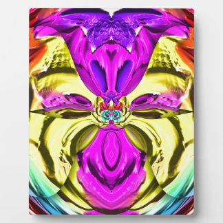 Cool Flourescent Pastel Abstract Pattern Plaque