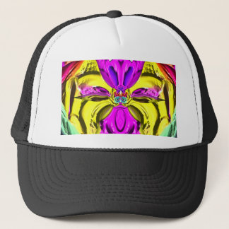 Cool Flourescent Pastel Abstract Pattern Trucker Hat
