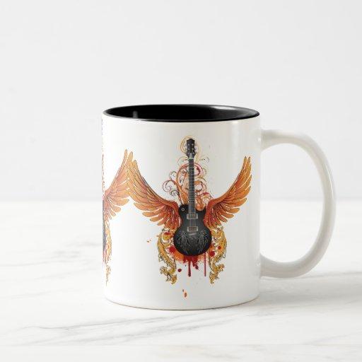 Cool Flying Guitar Mug