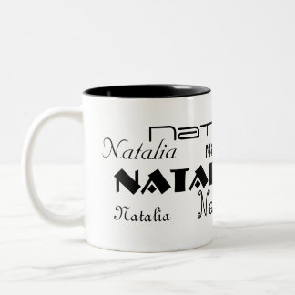Cool Fonts Your Name Personalized Two-Tone Mug