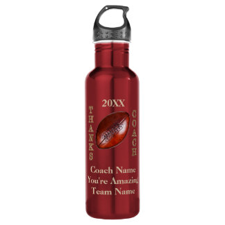 Cool Football Coach Gift Ideas PERSONALIZED 710 Ml Water Bottle