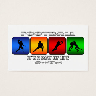 Cool Football It Is A Way Of Life Business Card