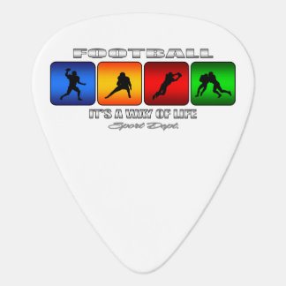 Cool Football It Is A Way Of Life Guitar Pick