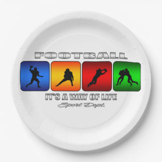 Cool Football It Is A Way Of Life Paper Plate