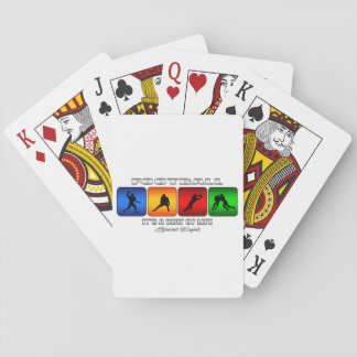 Cool Football It Is A Way Of Life Playing Cards