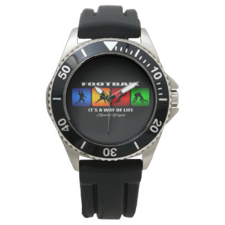 Cool Football It Is A Way Of Life Wrist Watch