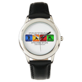 Cool Football It Is A Way Of Life Wrist Watches