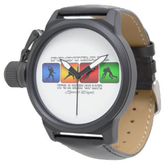 Cool Football It Is A Way Of Life Wristwatch
