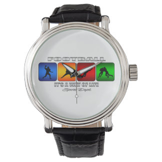 Cool Football It Is A Way Of Life Wristwatches