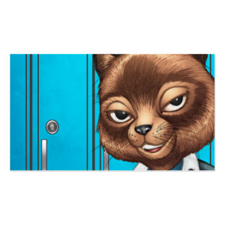 Cool For School Cat Drawing by Al Rio Business Card Templates
