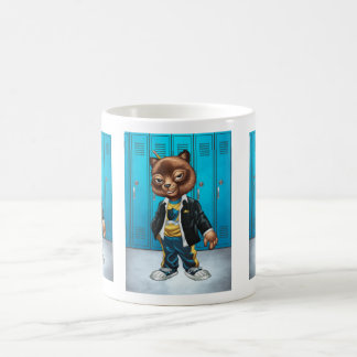 Cool For School Cat Drawing by Al Rio Mugs
