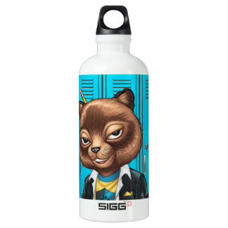 Cool For School Cat Drawing by Al Rio SIGG Traveller 0.6L Water Bottle