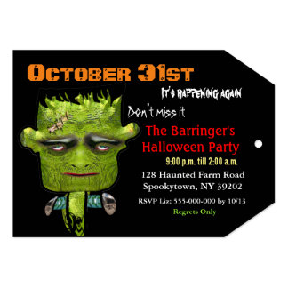 Cool Frank Fright Halloween 2 Invitation VIP Pass