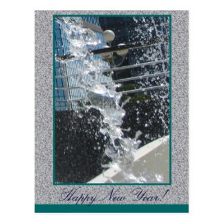 Cool Freeze Happy New Year Postcard