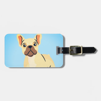 Cool French bull dog travel tag