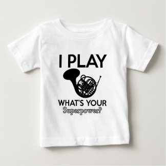 cool frenchorn designs baby T-Shirt