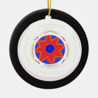 Cool Frisbee Ceramic Ornament