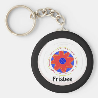 Cool Frisbee Design Key Ring
