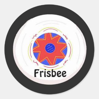 Cool Frisbee Design Round Sticker
