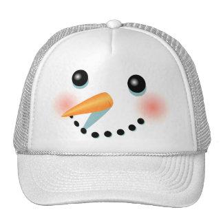 Cool Frosty Snowman Cartoon Cap