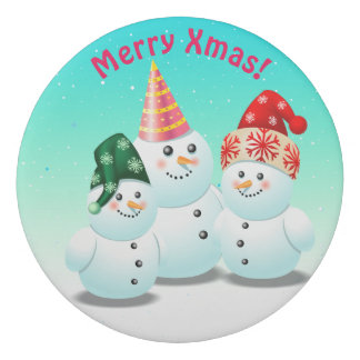 Cool Frosty Snowmen Eraser