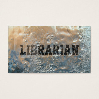Cool Frozen Ice Librarian Business Card