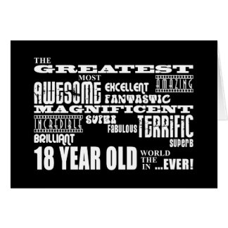 Cool Fun 18th Birthday Party Greatest 18 Year Old Greeting Card