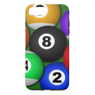 Cool Fun 8 Eight Ball Pool Balls Billiards Durable iPhone 7 Plus Case