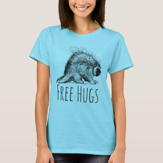 Cool Fun and Funny Free Hugs Porcupine T-Shirt