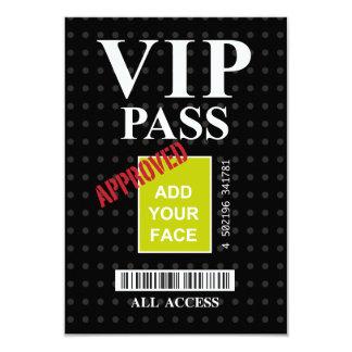 Cool fun black and white customizable VIP Pass… 9 Cm X 13 Cm Invitation Card