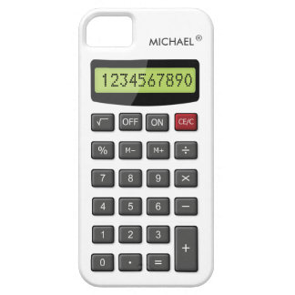 Cool Fun Calculator with Custom Text iPhone 5 Cover