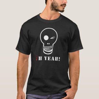 Cool Fun Humor Skull American Apparel T-Shirt