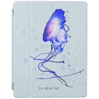 Cool Fun Scuba Diving Snorkeling Jellyfish iPad Cover