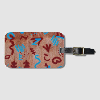 Cool Fun Unique Wall Writings Luggage Tag
