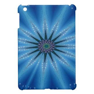 Cool Funky Artistic Royal Blue Starburst Pattern iPad Mini Cover