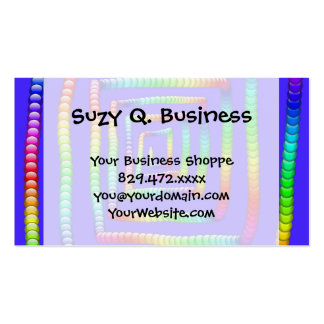 Cool Funky Rainbow Maze Rolling Circle Spheres Des Business Card Templates