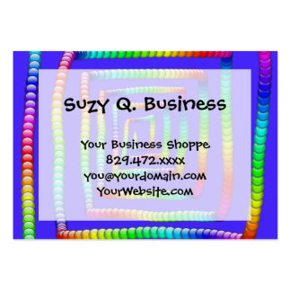 Cool Funky Rainbow Maze Rolling Circle Spheres Des Business Card