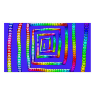 Cool Funky Rainbow Maze Rolling Circle Spheres Des Business Cards