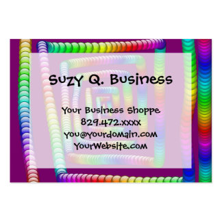Cool Funky Rainbow Maze Rolling Marbles Design Business Cards