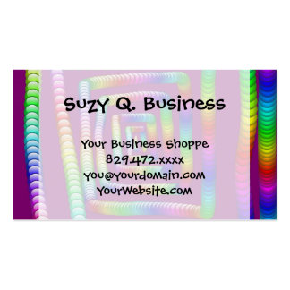 Cool Funky Rainbow Maze Rolling Marbles Design Business Card Template