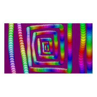 Cool Funky Rainbow Maze Rolling Marbles Design Business Card