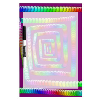 Cool Funky Rainbow Maze Rolling Marbles Design Dry Erase Board
