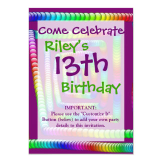 """Cool Funky Rainbow Maze Rolling Marbles Design 5"""" X 7"""" Invitation Card"""